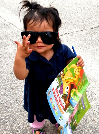 Wouldn't be a proper event without a pic of an awesome baby in our shades.