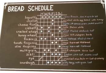 Batch's bread schedule. My new phone background.