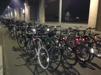 The many bikes in our Bike Corral