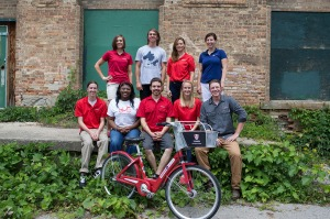 Top Row (Left-Right): Krista Crum- Assistant City Manager, Ryan Parsons- Tech, Raylene Brinkmeier- Marketing Intern, Claire Hurley- Field Operations Manager Bottom Row: Josh Reindl- Tech, Janalle Goosby- Marketing Intern, Garry Whitebird- Tech, Renna Durham- Marketing Intern, Josh Griffith- Operations Manager